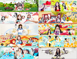 [MEGA PSD ] Happy 7th Anniversary SNSD By Les by yenlonloilop7c