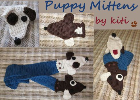 -commission- Puppy mittens by VVKiti