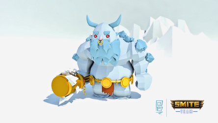 YMIR SMITE-GAME (low poly)/speed sculpting by Shakespei