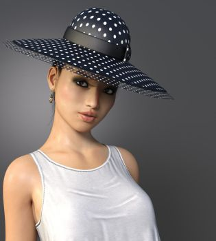 Lady In The Hat by Roy3D