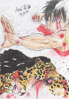 Monkey D. Luffy VS Lucci (Re-imaginated)