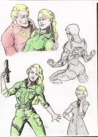 Space Quest 5 Sketches by Reskunk