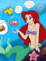 Under the Sea by a Cliff by Brittni-san110789