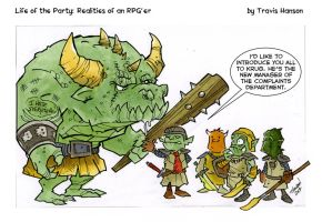 Goblin human resources....  rpg comic by travisJhanson