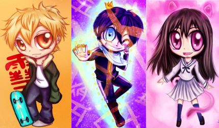Noragami Chibis! by Checker-Bee