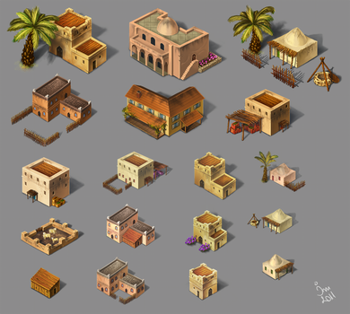 Assets - oriental houses by maria-istrate