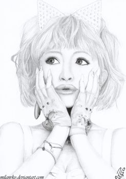 Ayumi Hamasaki pencil drawing by MilanRKO