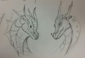 Friends- Dragon sketch by Major-Ren