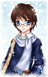 OC.Amid the Falling Snow+event by dawnshue