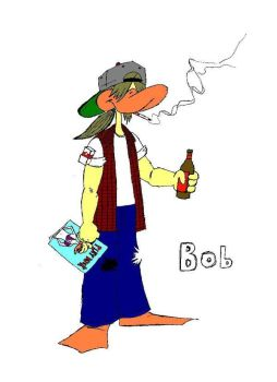 Bob the Bad Influence Bird version 2 by AaronStites