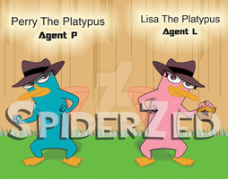 Perry and Lisa the Platypus (Birthday) by SpiderZed