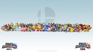Super Smash Bros. Wii U/3DS Wallpaper by PacDuck