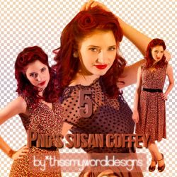 5 Pngs Susan Coffey by ThisIsMyWorldDesigns