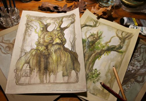 Ents in progress by BohemianWeasel