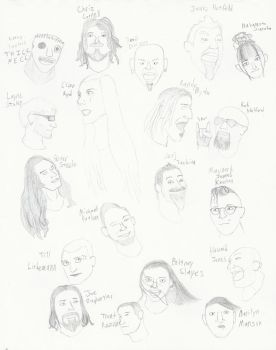 Faces of Frontmen and Frontwomen by PseudonoobDA