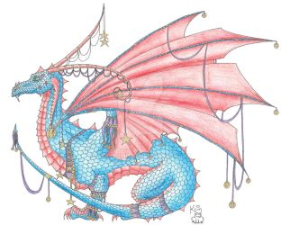 New Jester Dragon by Scellanis
