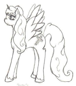Stormelle in MLPFiM type style by Quachir