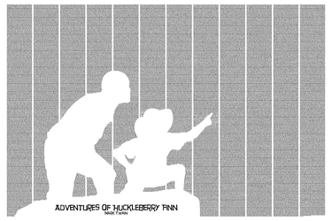 Adventures of Huckleberry Finn by postertext