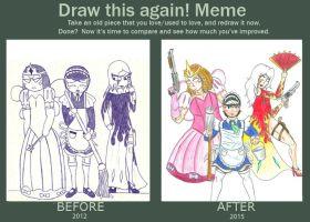 Then and now - Team Fabulous by MidnightDJ-SK