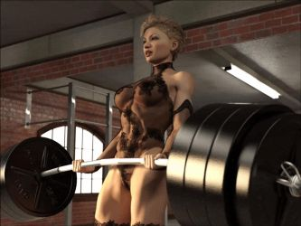 Sexy barbell curls: gif 2 slo mo by DahriAlGhul