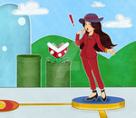 Mario Party | Mayor Pauline by strahldelune