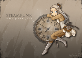 Steampunk Clock by H-Chan-Arts