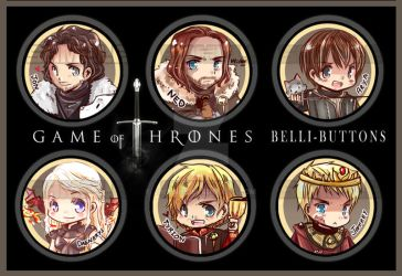 Game of Thrones Buttons by jinyjin