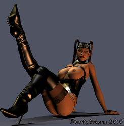 Lounging in Latex by DarkStormX1