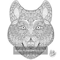 Red Wolf (The Exotic Colouring Book) by megcowley