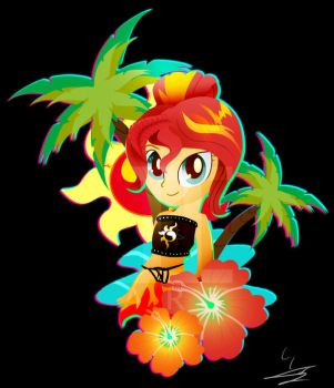 Beach Sunset Shimmer by Ilona-the-Sinister