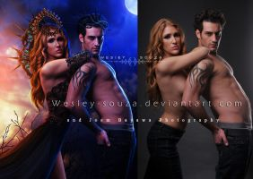 The Gods - before and after by Wesley-Souza
