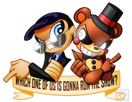 Which one of us is gonna run the show? by Grimmstein