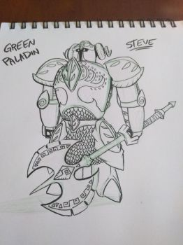 STEVE: The Green Paladin by ArwingPilot114
