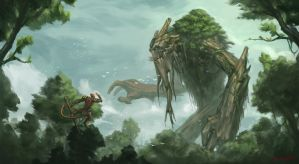 Treant Protector by funnyberserker