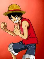 Luffy (paint) by johnnae