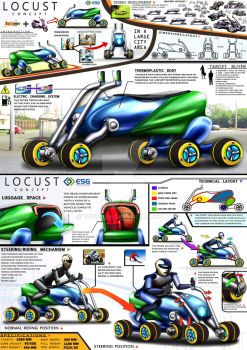 ESG Locust Mobility Scooter Design Concept by toyonda