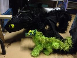 GIANT Toothless W.I.P. by SonsationalCreations