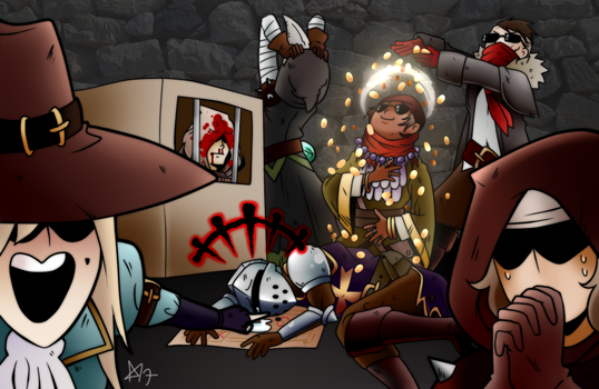 Darkest Dungeon: Money Party by Kutori