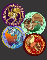 Eveelution buttons set 1 by shottsy85