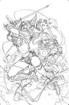 Guardians of the Galaxy #5 Angela Cover Pencil by TerryDodson
