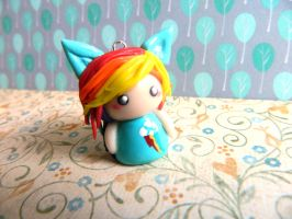Rainbow Dash Chibi Girl Charm by Xiiilucky13