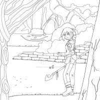 Wandering Mage (Colouring Page)