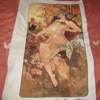 Mucha's Autumn Cross-stitch by jenninn