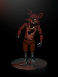 Cinema4D Foxy the Pirate 2.0!! by GaboCOart