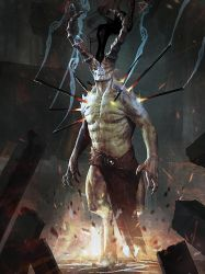 slightly evil horned person by IgorKieryluk