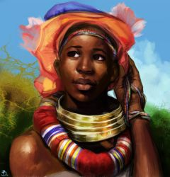 African girl by Vessyos