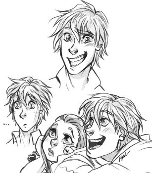 Derko and Josi - Sketches by Myed89