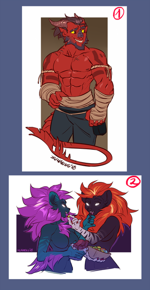 February Sketch Stream #2 - SFW pictures by Zummeng
