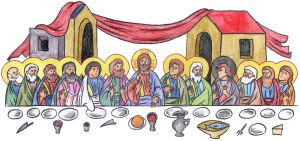 Luke 22:14-16 (The Mystical Supper) by Parastos