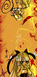 cats mice and butterflies by kika1983